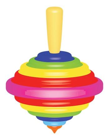 perinola: juguete brillante superior sobre ilustraci�n vectorial blanco Vectores