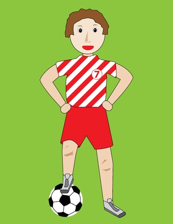 kid with ball vector illustration Vector