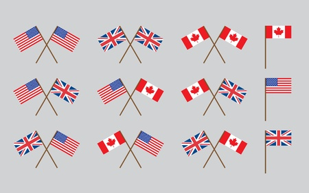 friendship flags with handles vector illustration Vector