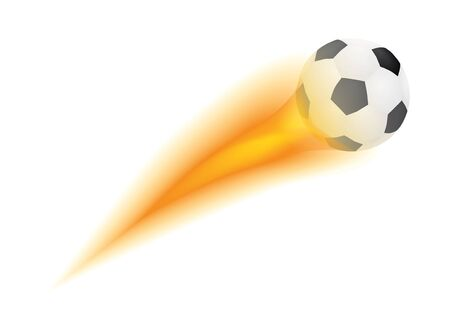 flying soccer ball with flame Stock Vector - 13166637