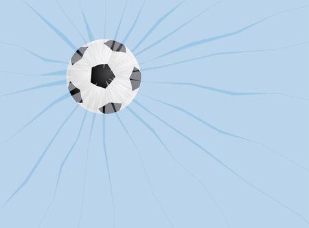 soccer ball break a window
