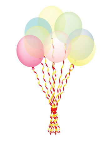 bunch of balloons vector illustration Stock Vector - 13196296
