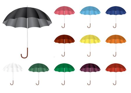collection of color umbrellas  Stock Vector - 13358466