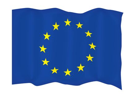 flyaway: fly-away European Union flag vector illustration