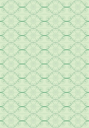 green abstract seamless floral vector pattern Stock Vector - 13530261