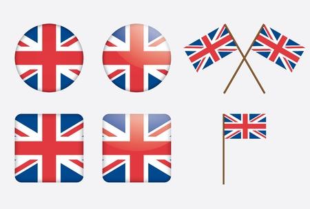연합 왕국: 영국 깃발 그림 배지