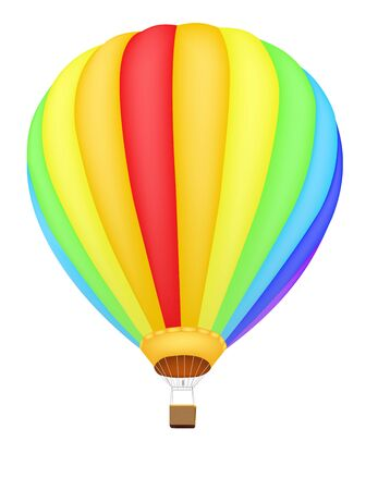 rainbow color hot air balloon  Vector