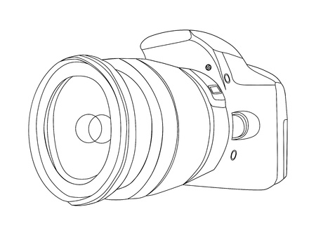 reflexes: silhouette of digital camera vector illustration Illustration