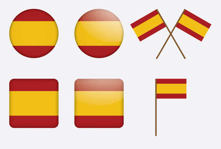 set of badges with flag of Spain Stock Vector - 13884277