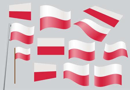 flagstaff: set of Polish flags