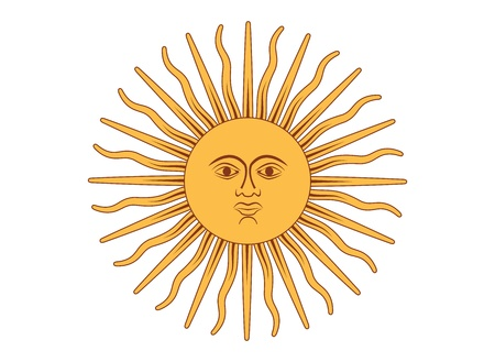 argentina flag: Sun of May vector illustration