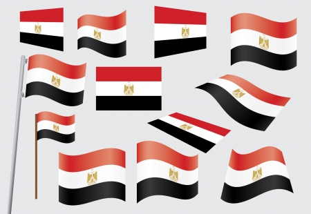 set of flags of Egypt vector illustration Stock Vector - 14169026