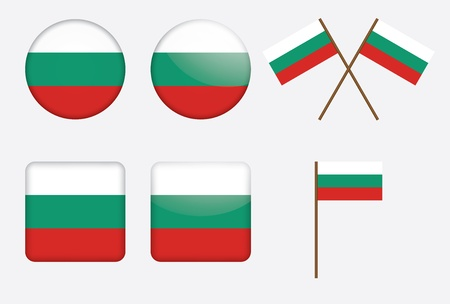 set of badges with flag of Bulgaria Vector