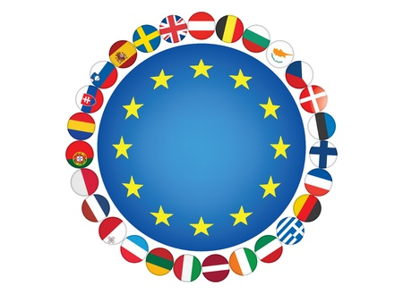 European Union flags Stock Vector - 14401949