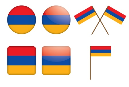 set of badges with flag of Armenia vector illustration Stock Vector - 14401956