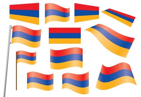 waved: set of flags of Armenia