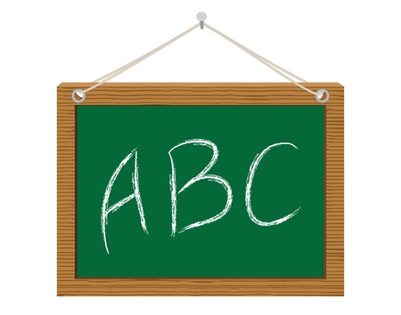 green chalkboard with ABC vector illustration Stock Vector - 14957762