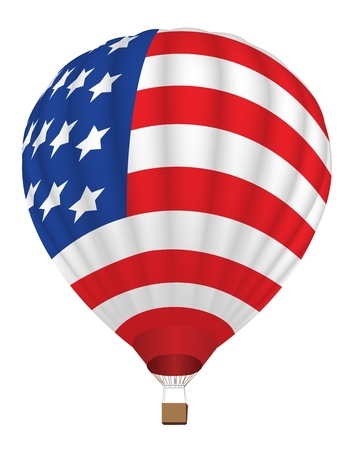 airballoon with United States flag vector illustration Stock Vector - 14957770