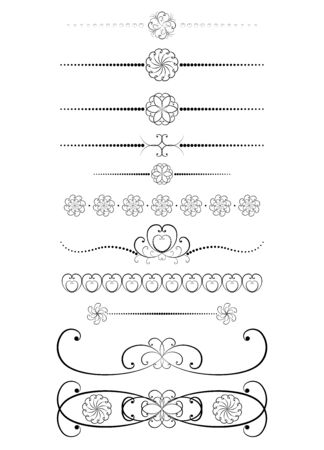 set of vintage dividers vector illustration Stock Vector - 15047596