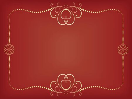 red floral vector background for Day of Valentine Stock Vector - 15047595