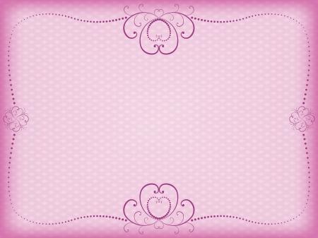 flower border pink: pink floral background for Day of Valentine vector illustration