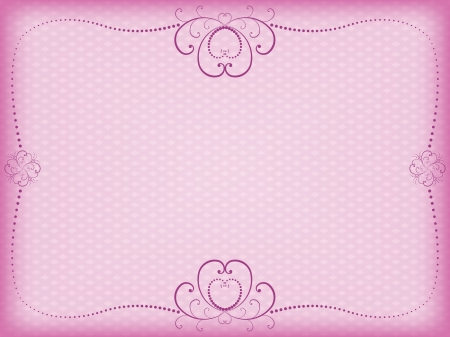 pink floral background for Day of Valentine vector illustration