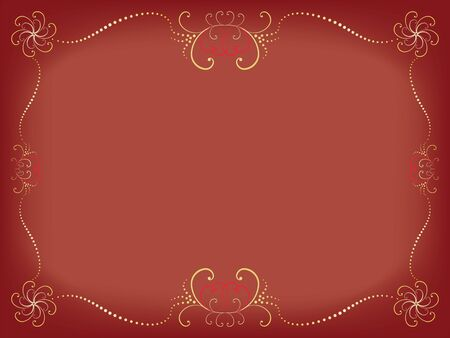 Day of Valentine background with vintage border vector illustration Stock Vector - 15047598
