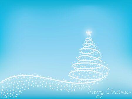 Christmas tree made of ribbon, stars and snowflakes vector illustration Stock Vector - 15276333