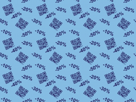 seamless background with QR code sale Vector