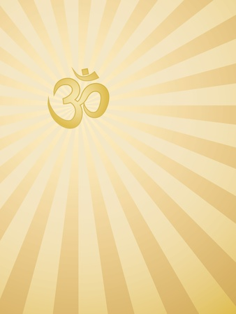 abstract rays background with Om sign