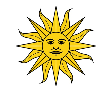 uruguay: Sun of May in the flag of Uruguay