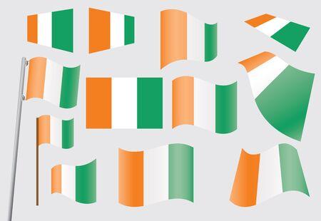 cote d ivoire: set of flags of Ivory Coast  Cote dIvoire  illustration