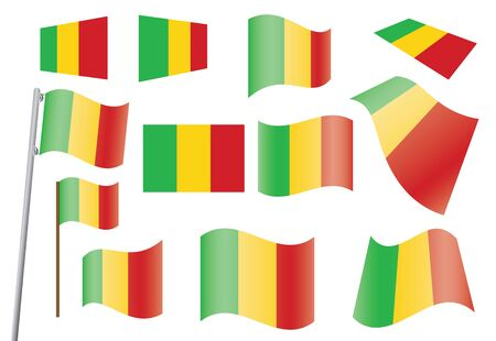 set of flags of Mali illustration Stock Vector - 16100793