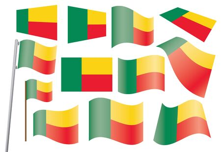 set of flags of Benin  illustration Stock Vector - 16100861