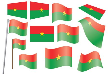 set of flags of Burkina Faso  illustration Stock Vector - 16211233