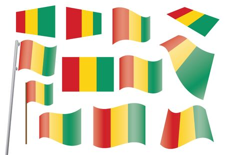 set of flags of Guinea  illustration Stock Vector - 16211288