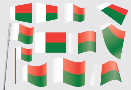 set of flags of Madagascar  illustration Stock Vector - 16281401