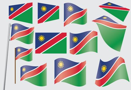 set of flags of Namibia  illustration Stock Vector - 16281435