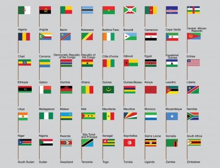 bandera de egipto: conjunto de los pa�ses de �frica ilustraci�n banderas
