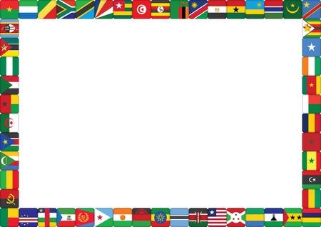 frame gemaakt van Afrikaanse landen vlaggen vector illustratie Vector Illustratie