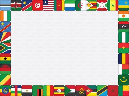 flag of egypt: fondo de la bandera de los pa�ses africanos iconos ilustraci�n marco vector Vectores