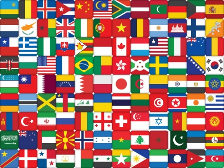 background made of world flag icons Stock Vector - 16399489