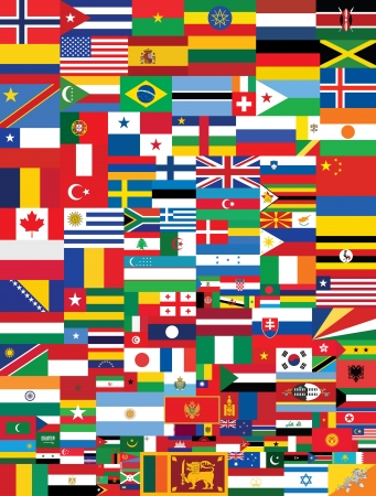 world flags background vector illustration Vector