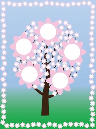 blossoming: blossoming tree at spring vector illustration Illustration