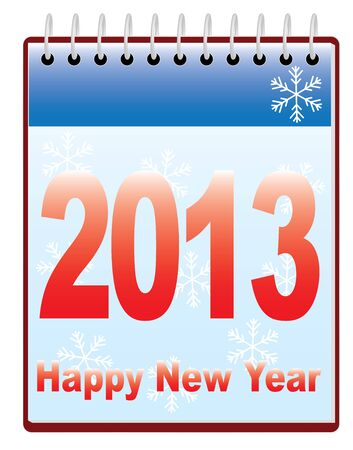 happy new year 2013 calendar Stock Vector - 16589513