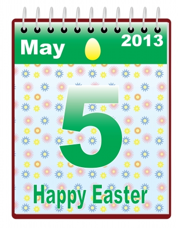 calendar with Orthodox Easter date vector illustration Stock Vector - 16596983