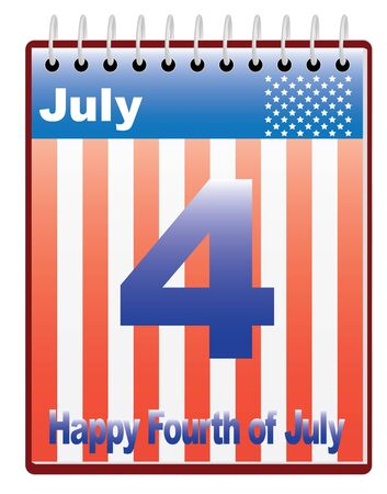 calendar with Fourth of July date vector illustration Stock Vector - 16596981