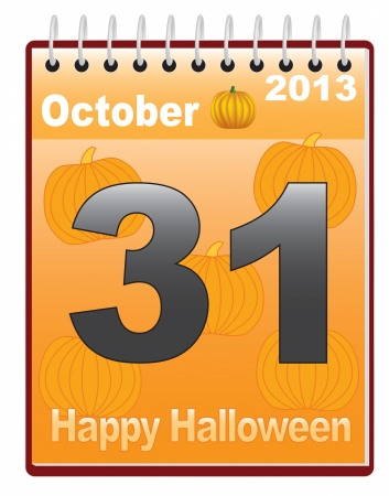 calendar with Halloween date vector illustration Stock Vector - 16609787