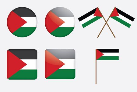 set of badges with flag of Palestine vector illustration Stock Vector - 16614963