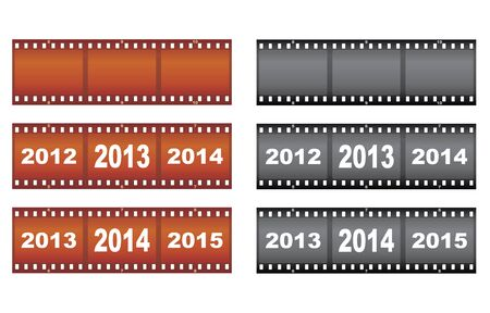 set of New Year filmstrips illustration Stock Vector - 16638347